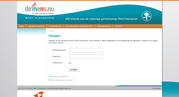 Intranet IMD West-Vlaanderen
